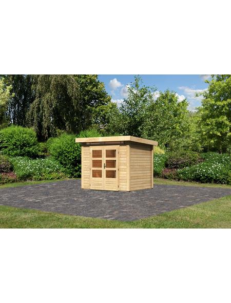 WOODFEELING Gartenhaus »Kandern 2«, BxT: 276 x 232 cm (Aufstellmaße), Pultdach