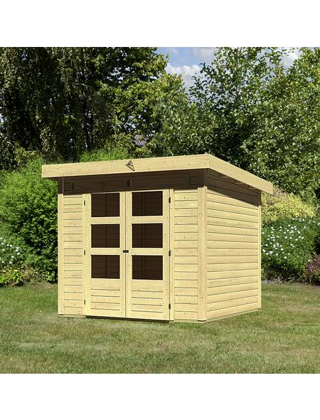 WOODFEELING Gartenhaus »Kandern«, BxT: 240 x 240 cm (Aufstellmaße), Pultdach