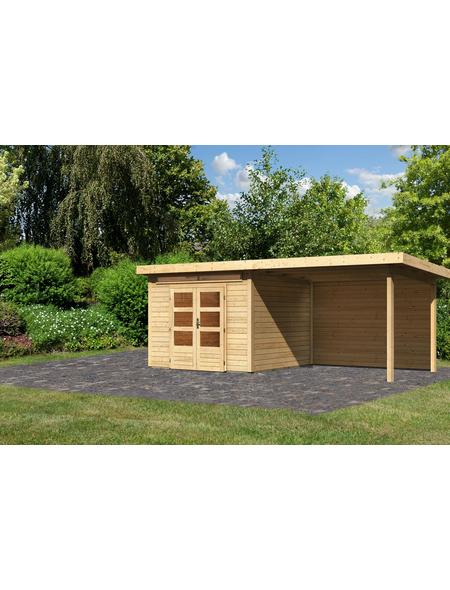 WOODFEELING Gartenhaus »Kandern«, BxT: 612 x 303 cm (Aufstellmaße), Pultdach