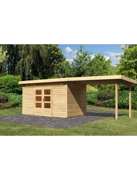WOODFEELING Gartenhaus »Kandern«, BxT: 632 x 332 cm (Aufstellmaße), Pultdach