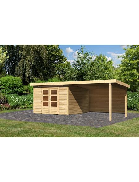 WOODFEELING Gartenhaus »Kandern«, BxT: 644 x 332 cm (Aufstellmaße), Pultdach