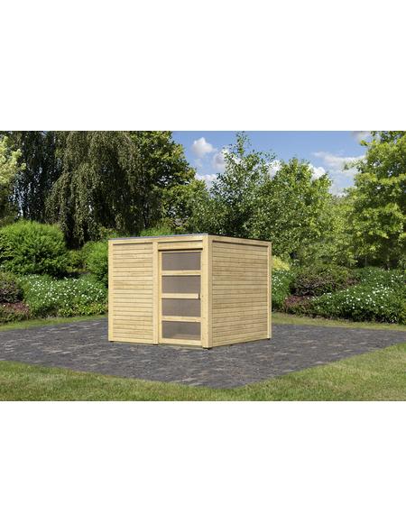 KARIBU Gartenhaus »Karby 1«, BxT: 246 x 246 cm (Aufstellmaße), Flachdach