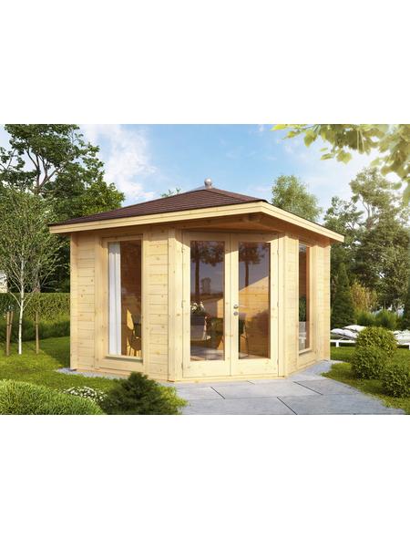 WOLFF FINNHAUS Gartenhaus »Katrin«, BxT: 352 x 352 cm, Spitzdach