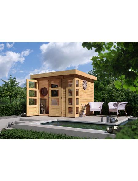 WOODFEELING Gartenhaus »Kerko 3«, BxT: 266 x 238 cm (Aufstellmaße), Flachdach