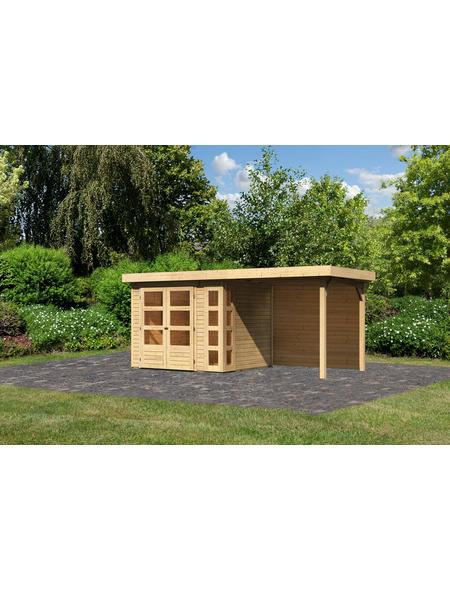 WOODFEELING Gartenhaus »Kerko 3«, BxT: 508 x 238 cm (Aufstellmaße), Flachdach