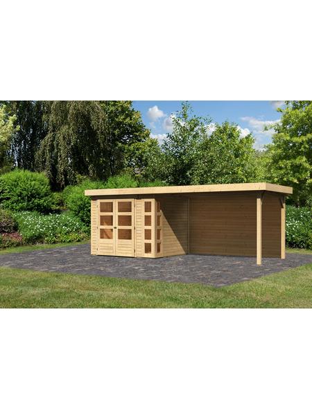 WOODFEELING Gartenhaus »Kerko 3«, BxT: 528.5 x 238 cm (Aufstellmaße), Flachdach