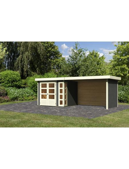 WOODFEELING Gartenhaus »Kerko 3«, BxT: 545 x 238 cm (Aufstellmaße), Flachdach