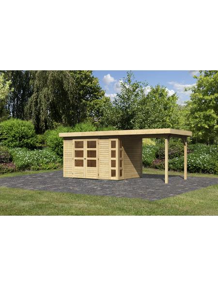 WOODFEELING Gartenhaus »Kerko 4«, BxT: 554 x 238 cm (Aufstellmaße), Flachdach