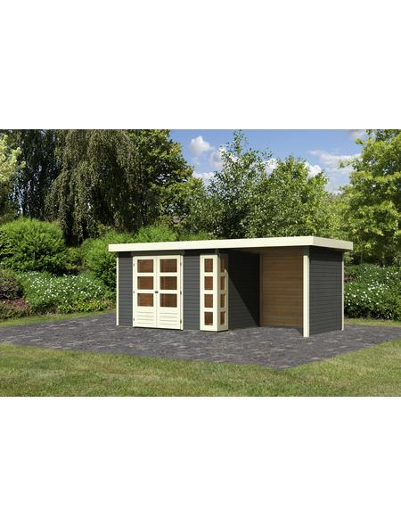 WOODFEELING Gartenhaus »Kerko 4«, BxT: 572 x 238 cm (Aufstellmaße), Flachdach