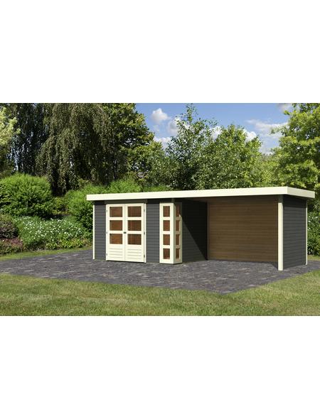 WOODFEELING Gartenhaus »Kerko 4«, BxT: 609 x 238 cm (Aufstellmaße), Flachdach