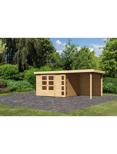 WOODFEELING Gartenhaus »Kerko 5«, BxT: 554 x 262 cm (Aufstellmaße), Flachdach