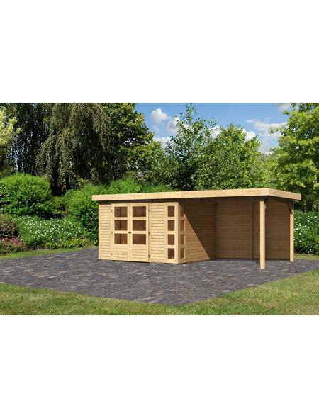 WOODFEELING Gartenhaus »Kerko 5«, BxT: 591.5 x 262 cm (Aufstellmaße), Flachdach