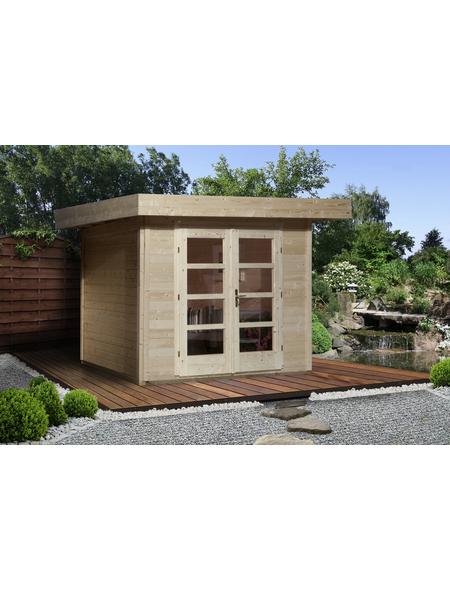 WEKA Gartenhaus »Komfort Designhaus 126 Plus Gr.1«, BxT: 356 x 284 cm, Flachdach