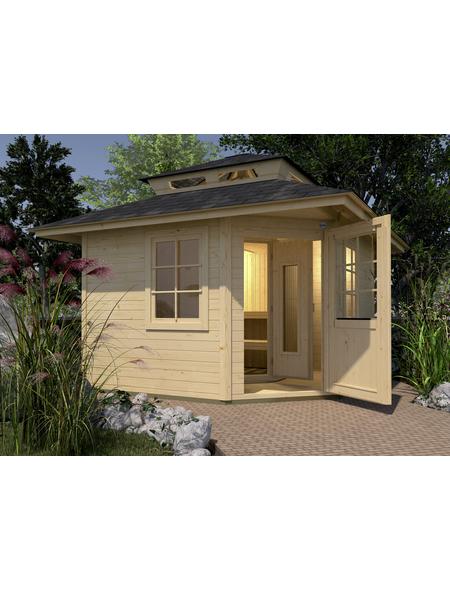 WEKA Gartenhaus »Kurikka«, B x T: 298 x 298 cm, Satteldach