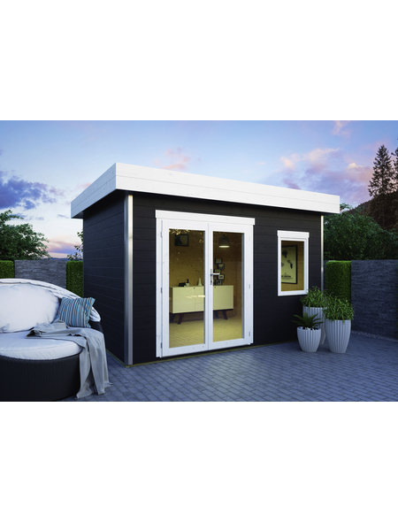 LUOMAN Gartenhaus »Lillevilla 411«, B x T: 373 x 283 cm