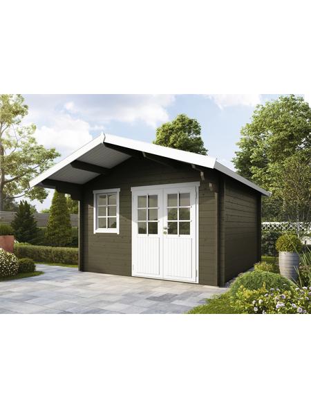 WOLFF FINNHAUS Gartenhaus »Lisa«, BxT: 420 x 440 cm, Satteldach