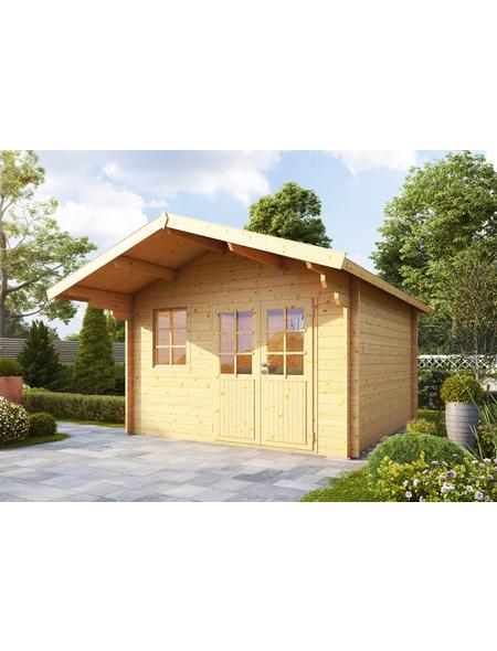 WOLFF FINNHAUS Gartenhaus »Lisa«, BxT: 422 x 440 cm, Satteldach