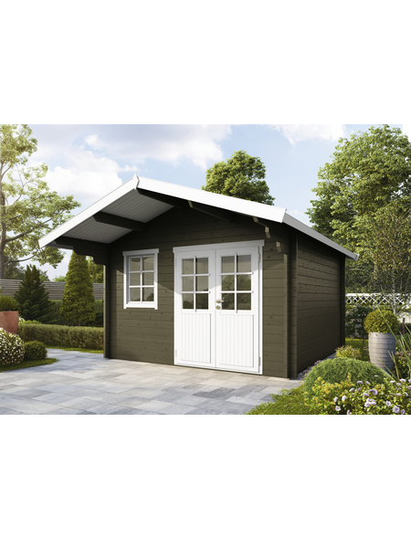 WOLFF FINNHAUS Gartenhaus »Lisa«, BxT: 444.6 x 530 cm, Satteldach