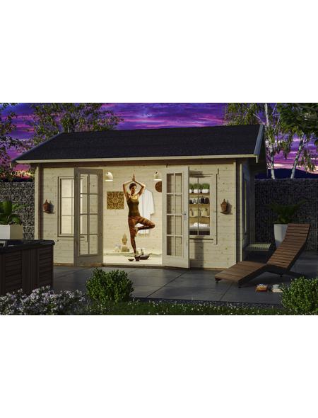 SKANHOLZ Gartenhaus »Lugano 2«, BxT: 500 x 460 cm (Aufstellmaße), Satteldach
