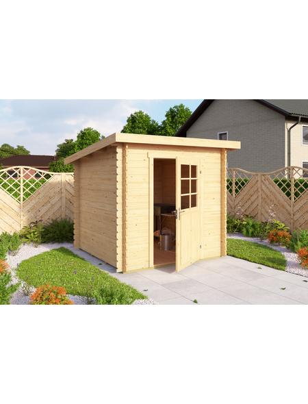 LASITA MAJA Gartenhaus »Main«, BxT: 230 x 228 cm (Aufstellmaße), Flachdach
