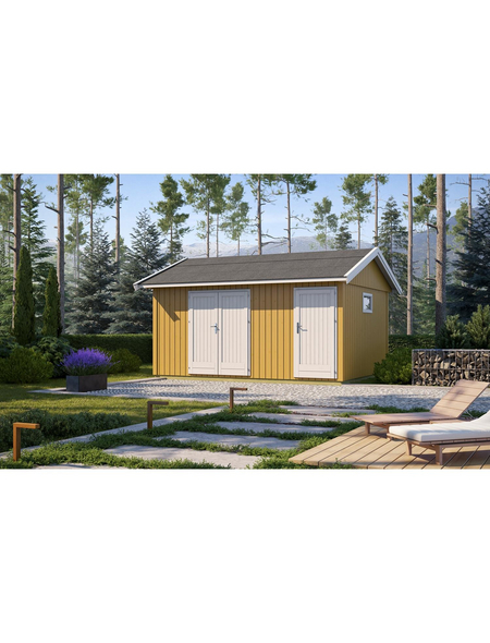 LASITA MAJA Gartenhaus »Nordic«, B x T: 490 x 438 cm, Satteldach, inkl. Fußboden