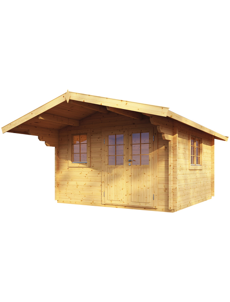 WOLFF FINNHAUS Gartenhaus »Nordkap«, BxT: 450 x 640 cm, Satteldach