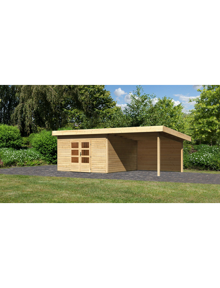 WOODFEELING Gartenhaus »Northeim«, BxT: 724 x 420 cm (Aufstellmaße), Pultdach