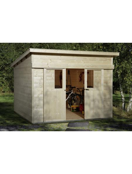 WEKA Gartenhaus »Porta 1«, B x T: 315 x 249 cm, Flachdach