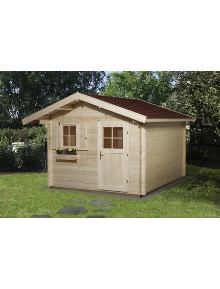 WEKA Gartenhaus »Premium«, BxT: 380 x 320 cm (Aufstellmaße), Satteldach