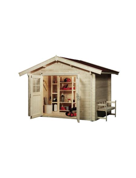 WEKA Gartenhaus »Premium45«, B x T: 300 x 280 cm, Satteldach, inkl. Fußboden
