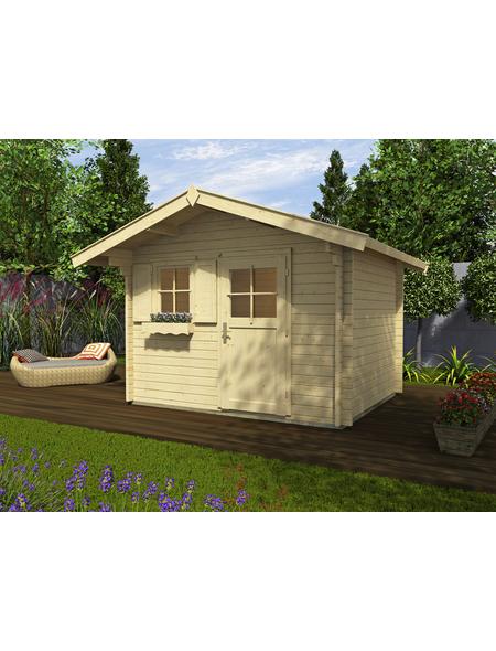 WEKA Gartenhaus »Premium45«, B x T: 380 x 320 cm, Satteldach, inkl. Fußboden