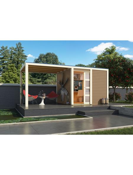 KARIBU Gartenhaus »Qubic 1«, B x T: 484 x 246 cm