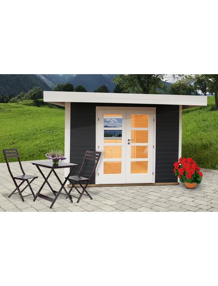 WOLFF FINNHAUS Gartenhaus »Relax«, BxT: 356 x 314 cm, Flachdach
