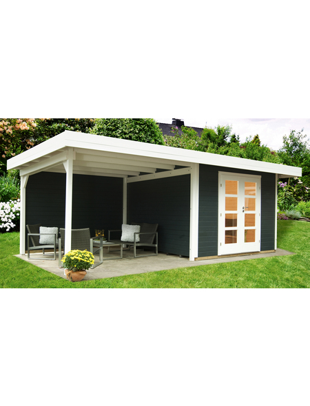 WOLFF FINNHAUS Gartenhaus »Relax«, BxT: 645 x 314 cm, Flachdach
