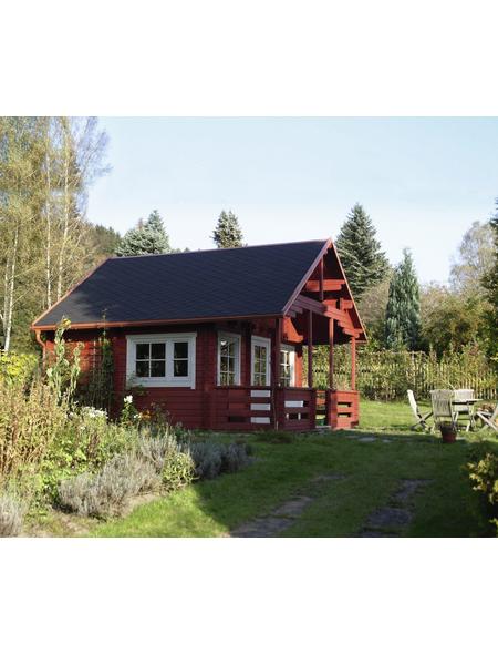 WOLFF FINNHAUS Gartenhaus »Sauerland«, BxT: 577 x 794 cm (Aufstellmaße), Satteldach