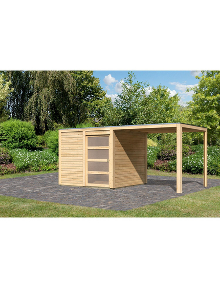 KARIBU Gartenhaus-Set, B x T: 485 x 246 cm, Fichte
