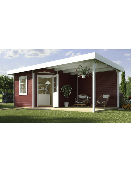 WEKA Gartenhaus-Set »Designhaus 213 Gr. 2«, BxT: 646 x 338 cm, Flachdach