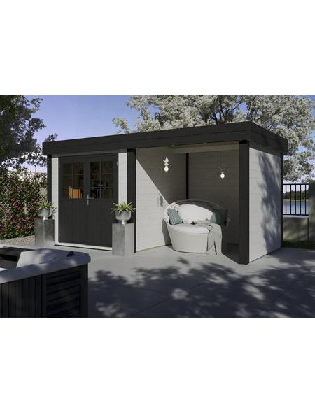 LUOMAN Gartenhaus-Set »Lillevilla 567«, B x T: 475 x 248 cm