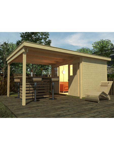 WEKA Gartenhaus-Set »Loungehaus Gr.1«, B x T: 529 x 336 cm