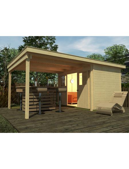 WEKA Gartenhaus-Set »Loungehaus Gr.4«, B x T: 529 x 338 cm