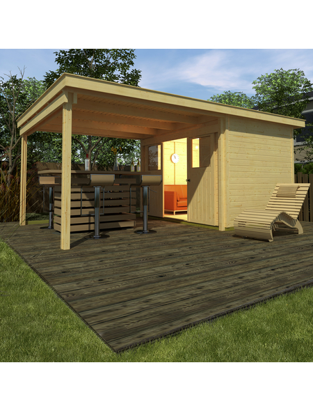 WEKA Gartenhaus-Set »Loungehaus Gr.6«, B x T: 619 x 338 cm