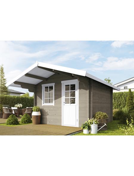WOLFF FINNHAUS Gartenhaus »Skagen«, BxT: 360 x 395 cm (Aufstellmaße), Satteldach