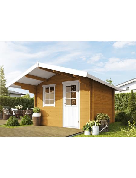 WOLFF FINNHAUS Gartenhaus »Skagen«, BxT: 360 x 450 cm (Aufstellmaße), Satteldach
