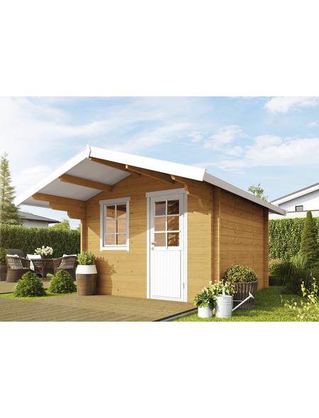 WOLFF FINNHAUS Gartenhaus »Skagen«, BxT: 360 x 450 cm, Satteldach