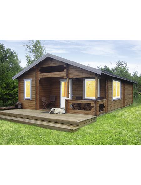 WOLFF FINNHAUS Gartenhaus »Spessart«, BxT: 635 x 837 cm (Aufstellmaße), Satteldach