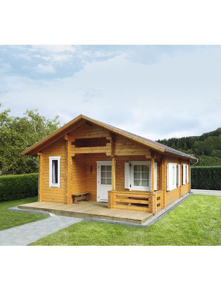 WOLFF FINNHAUS Gartenhaus »Spessart«, BxT: 637 x 839 cm (Aufstellmaße), Satteldach