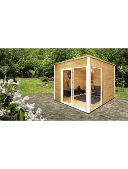 WOLFF FINNHAUS Gartenhaus »Studio 44-B«, BxT: 320 x 320 cm, Flachdach