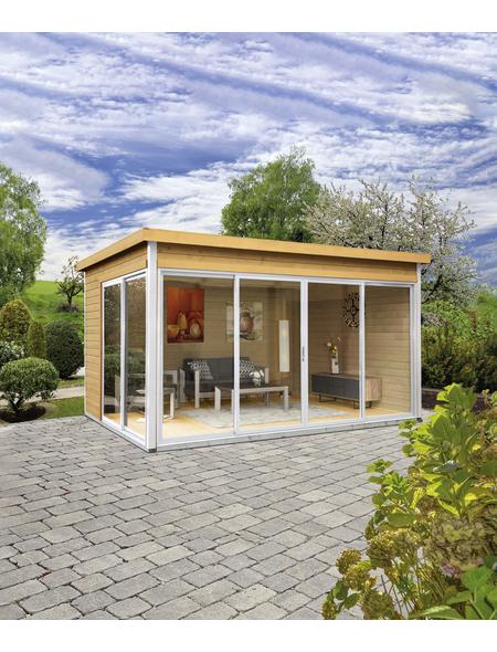 WOLFF FINNHAUS Gartenhaus »Studio 44-D«, BxT: 438 x 342 cm, Flachdach