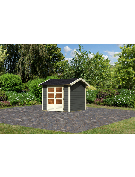 WOODFEELING Gartenhaus »Talkau 4«, BxT: 270 x 288 cm (Aufstellmaße), Satteldach