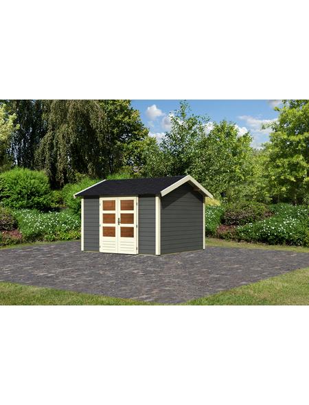 WOODFEELING Gartenhaus »Talkau 7«, BxT: 337 x 348 cm (Aufstellmaße), Satteldach